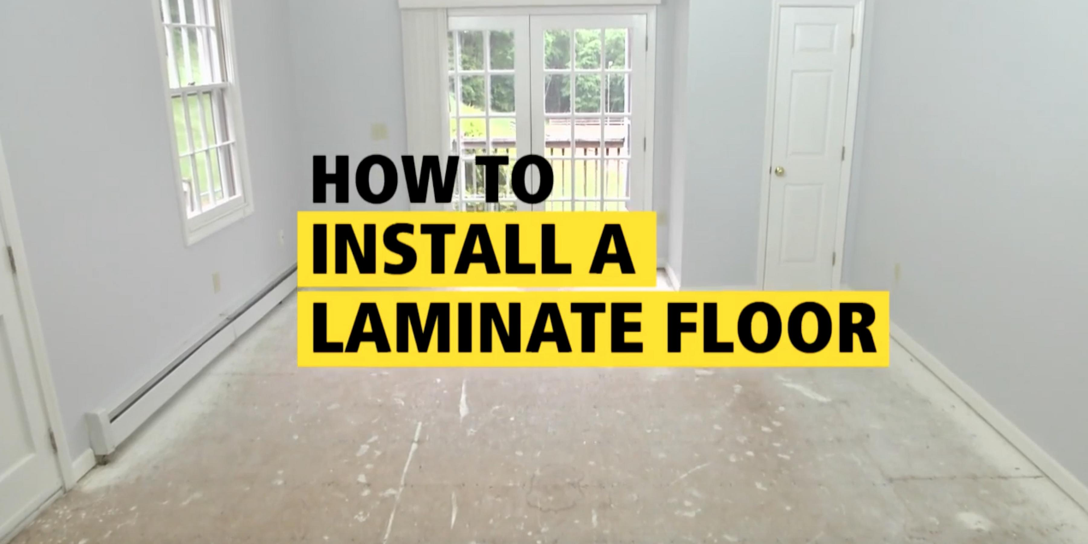 How To Install A Laminate Floor - STANLEY Pro Project Guides