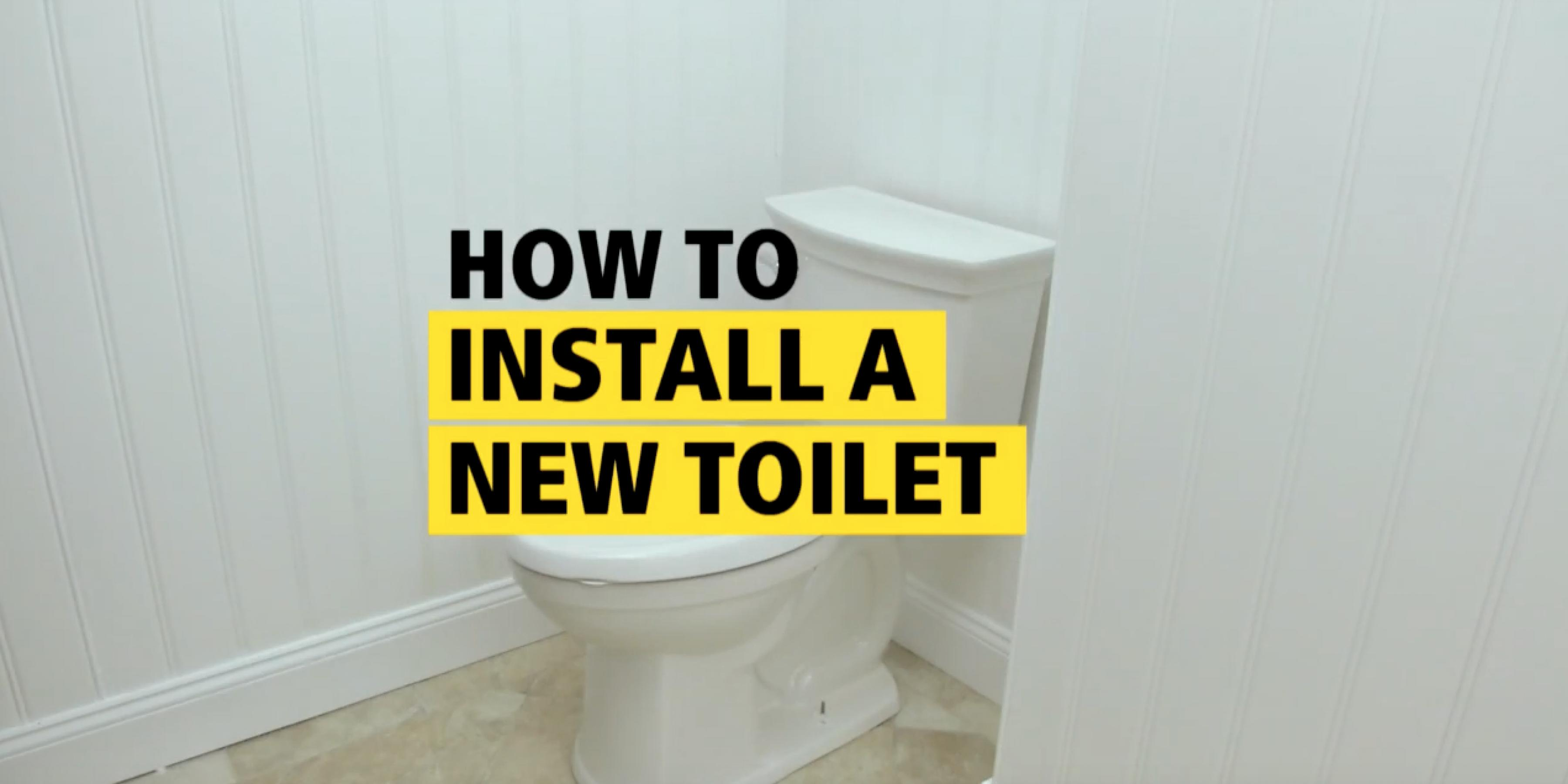 How To Install A New Toilet - STANLEY Pro Project Guides