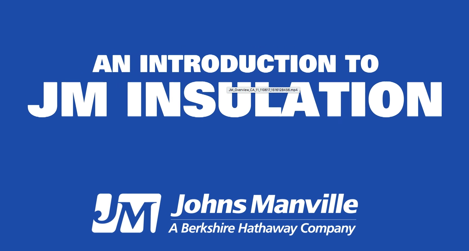 Introduction to JM Insulation