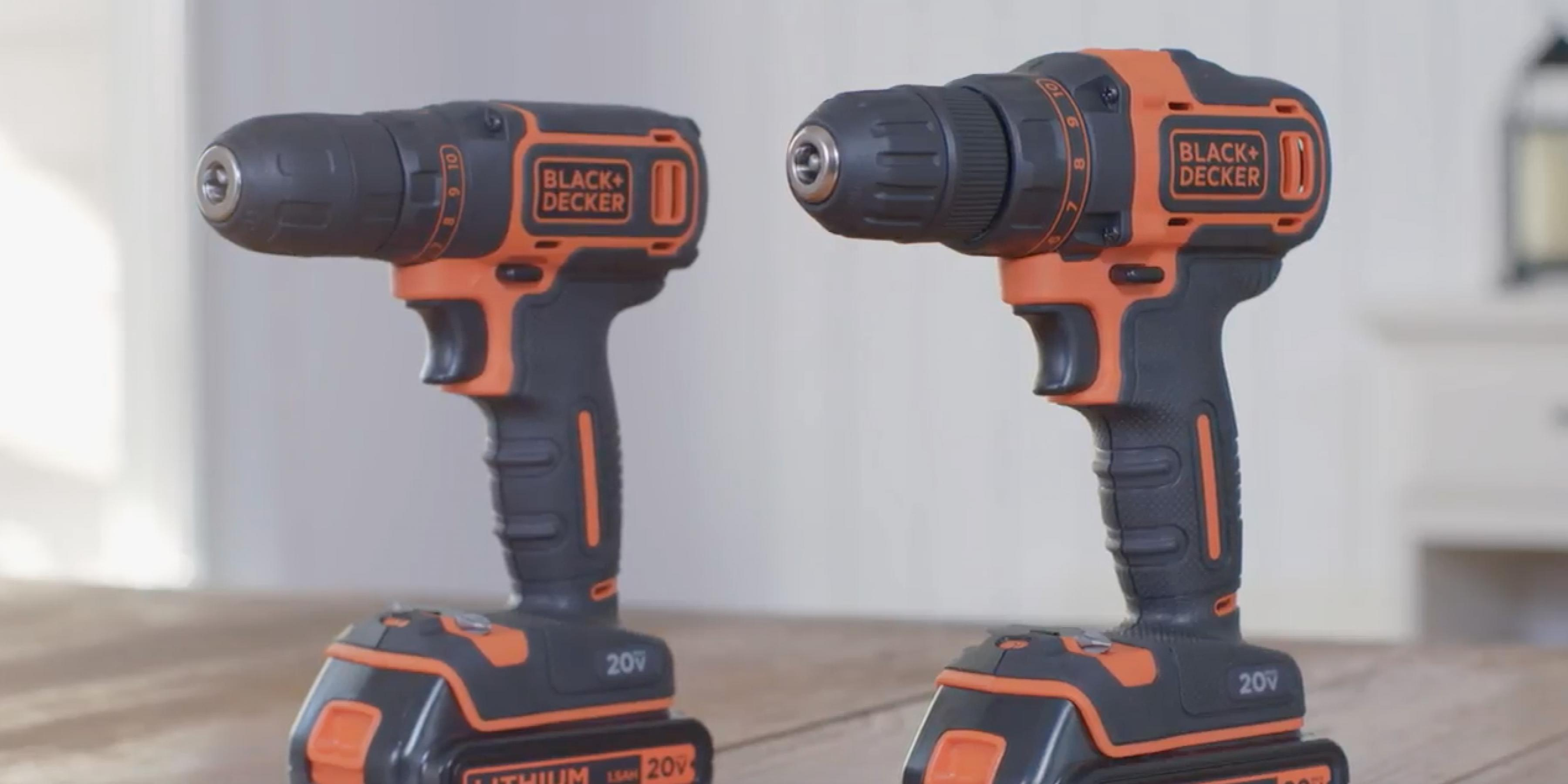 20V MAX* Lithium Drills from BLACK+DECKER