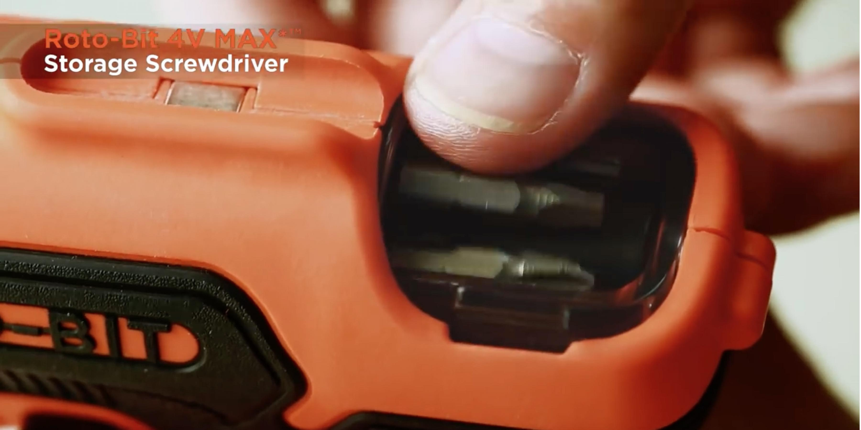 New 4V MAX* Roto-Bit Storage Screwdriver