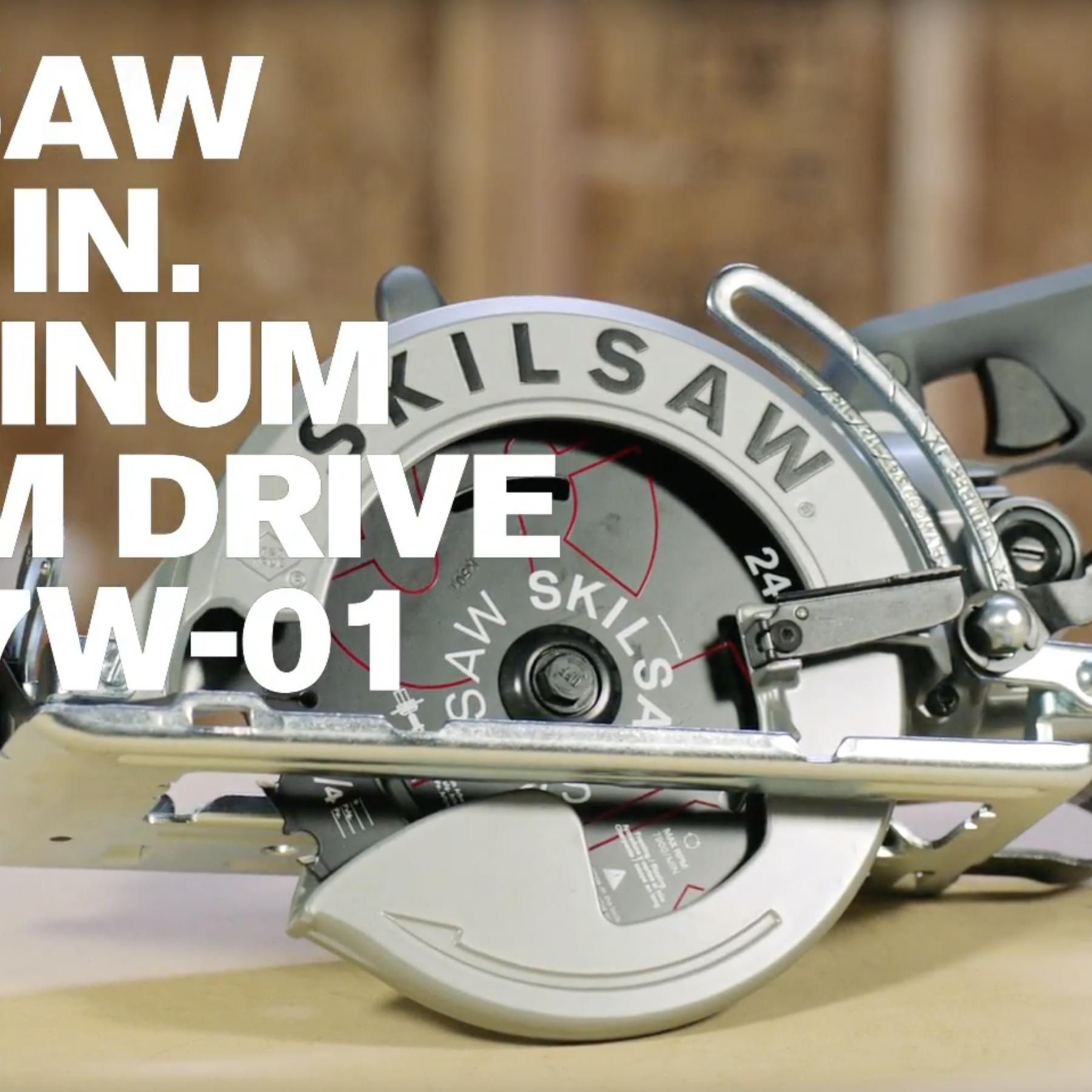 SKILSAW 7-1/4 In. Aluminum Worm Drive Saw, SPT77W-01