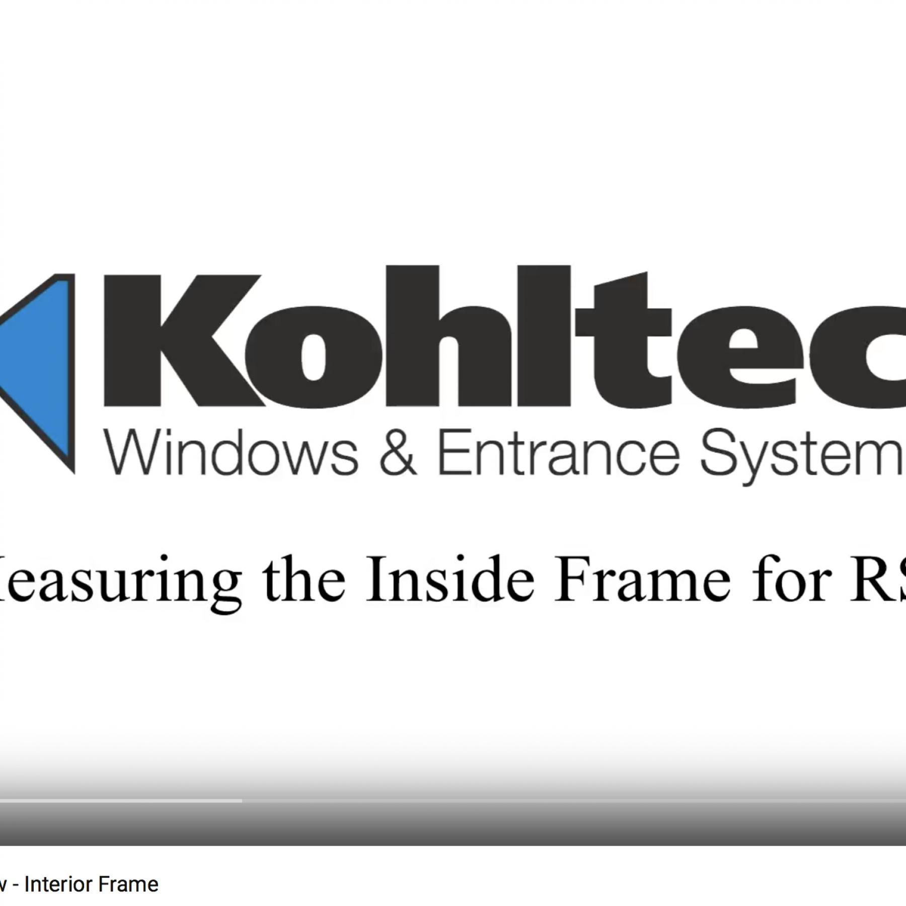 Measuring Replacement Window - Interior Frame