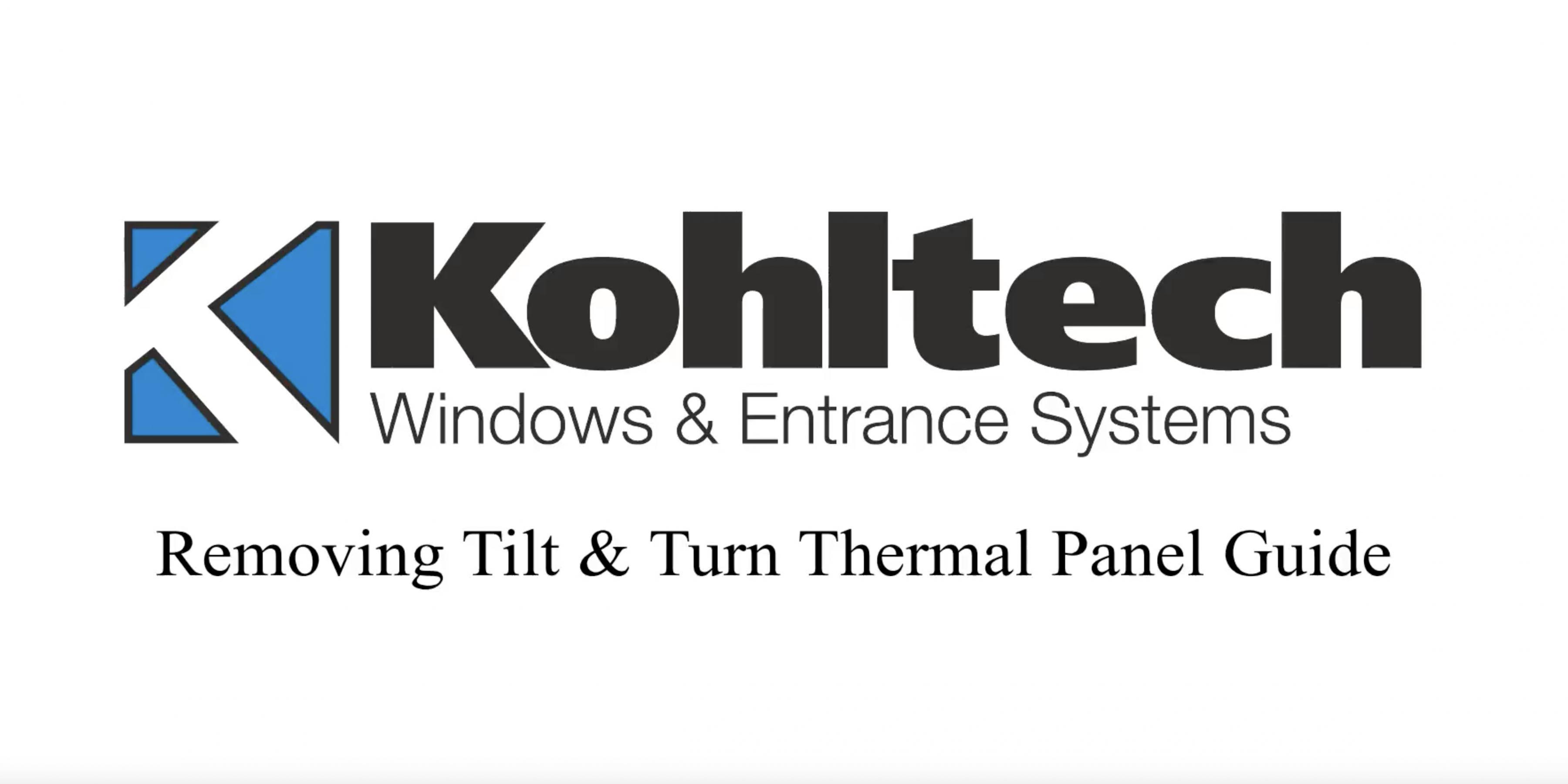 Removing Tilt & Turn Thermal Panel