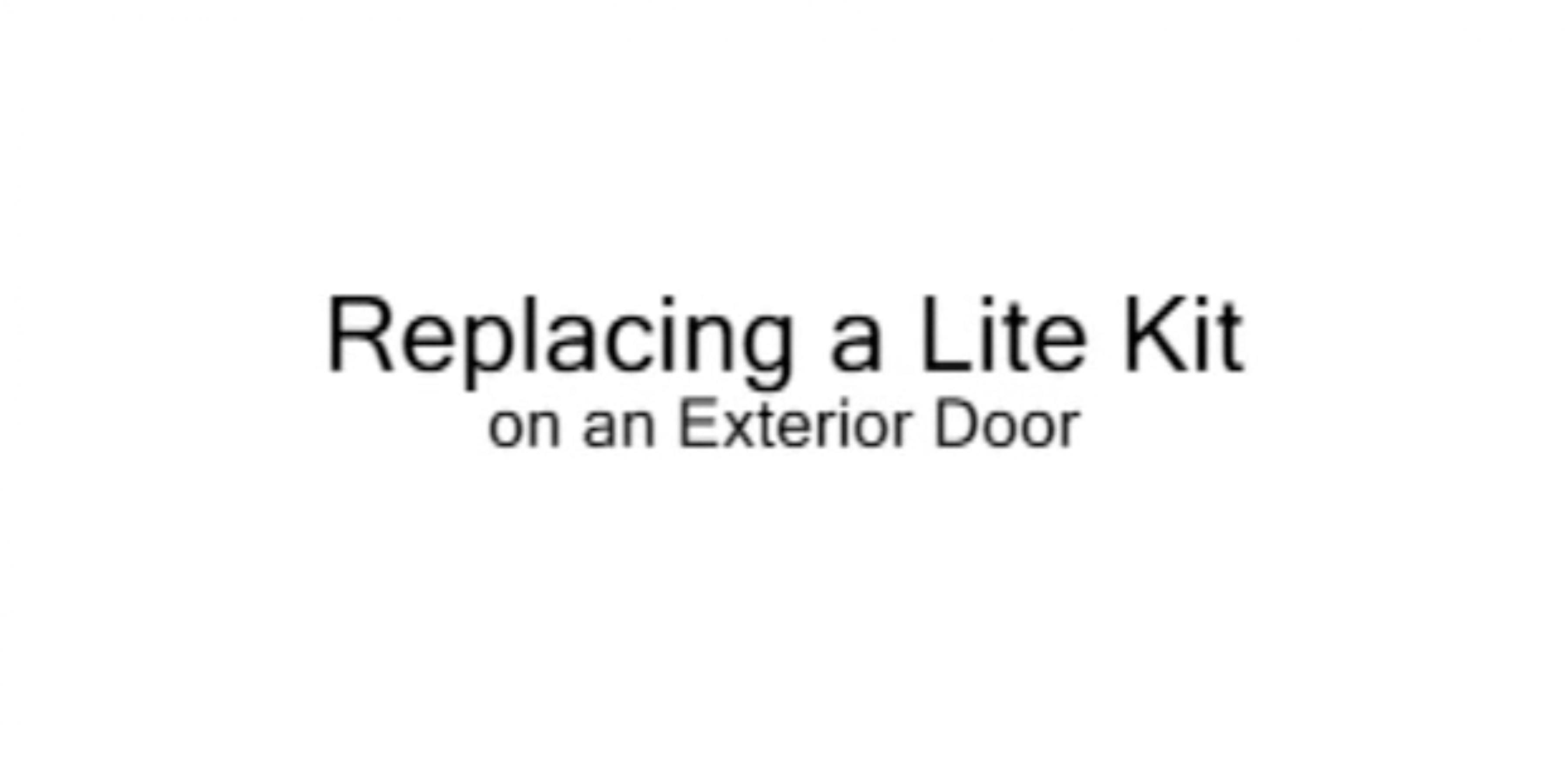 Replacing A Kohltech Lite Kit