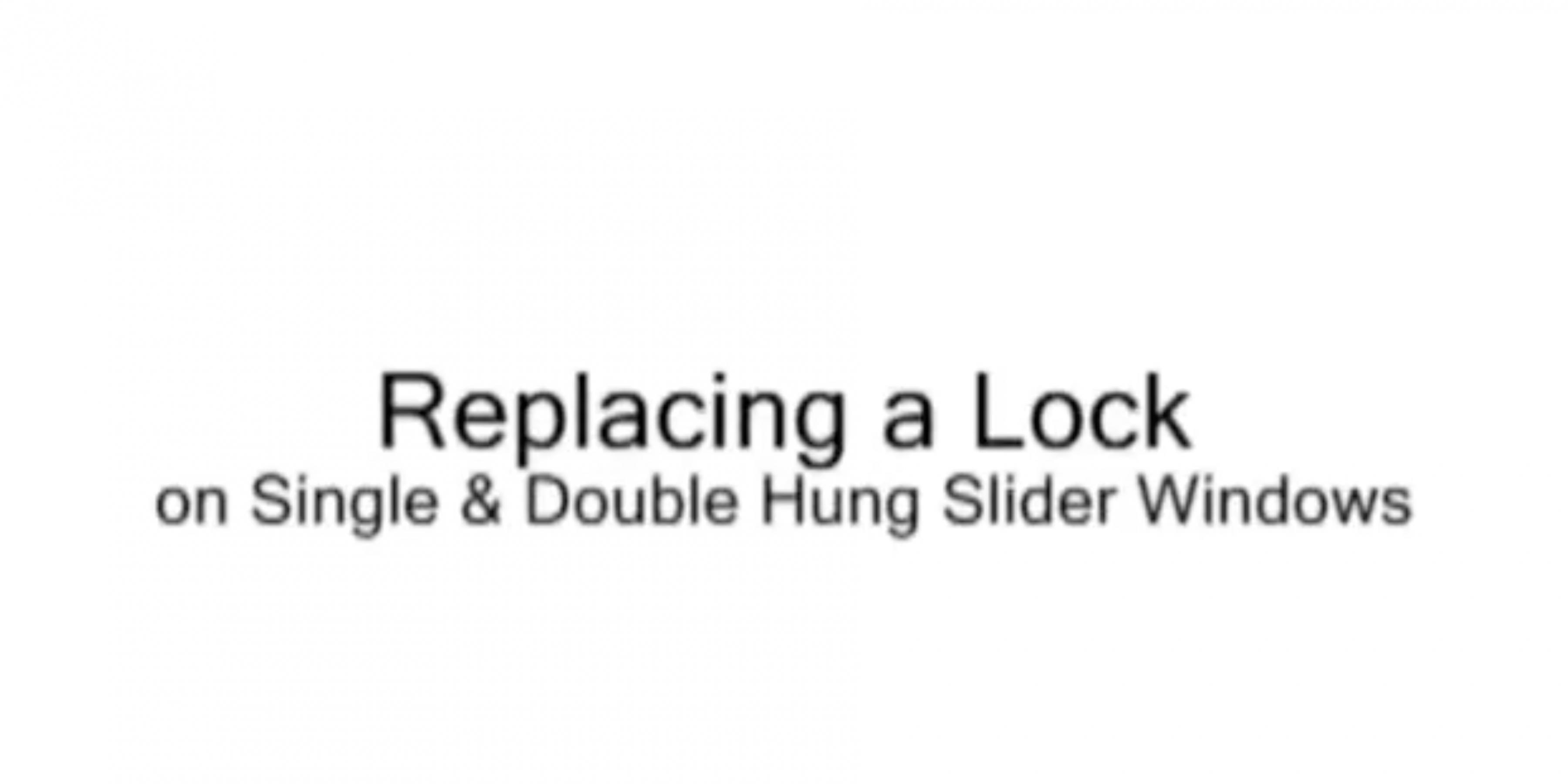 Replacing a Cam Lock