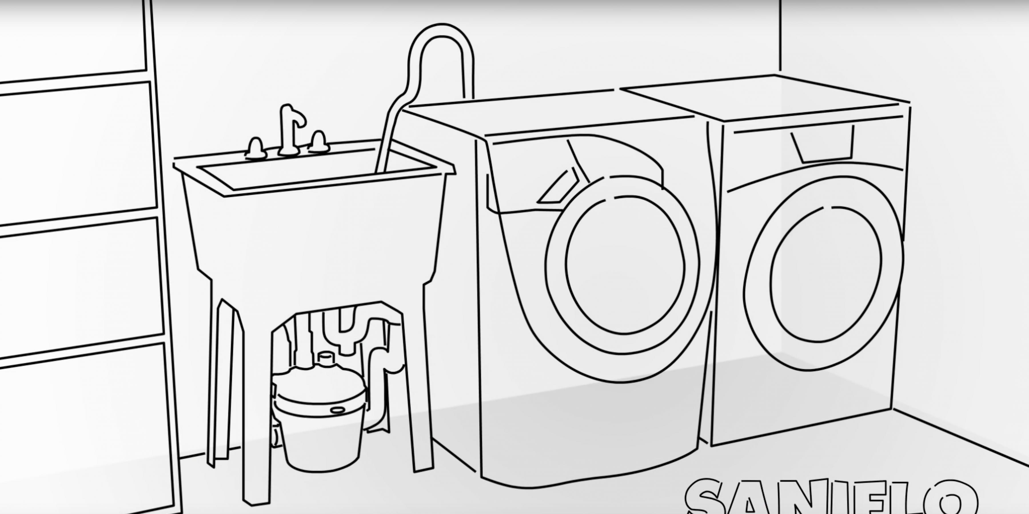 Install a Laundry Room Anywhere With Saniflo