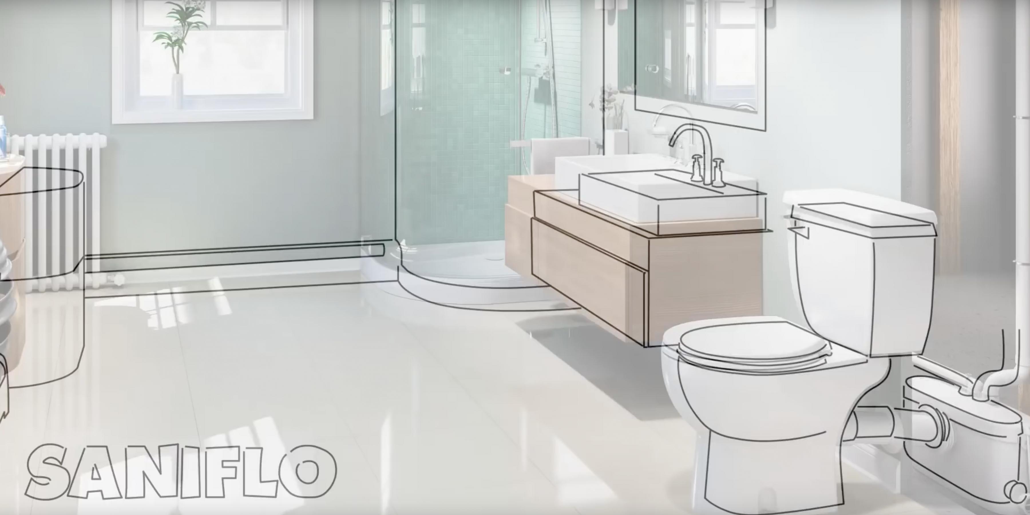 Install a Bathroom Anywhere with Saniflo