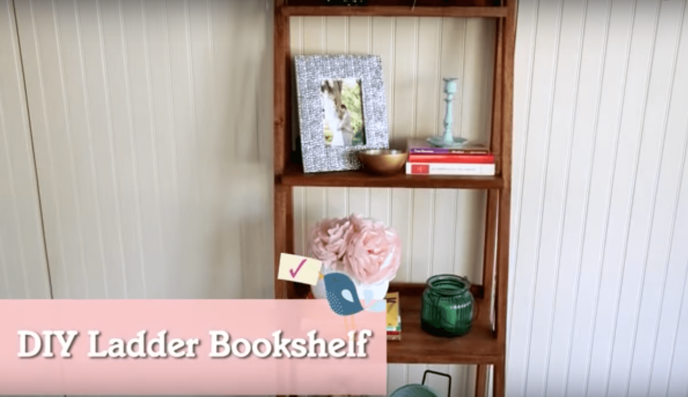 How to Make a Ladder Bookshelf