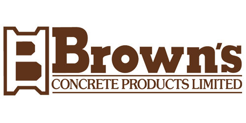 Brown's Concrete Products Logo