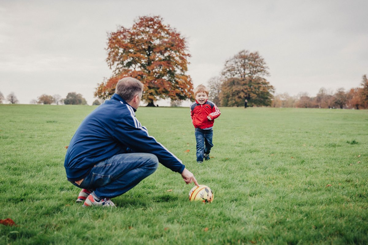 Family Photographer_Clifton Bristol_dad and son playing football
