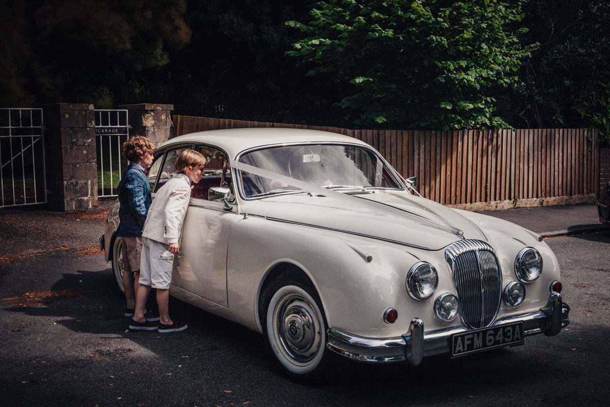 Wedding Photography_St Marys Church Stoke Bishop Bristol_wedding car