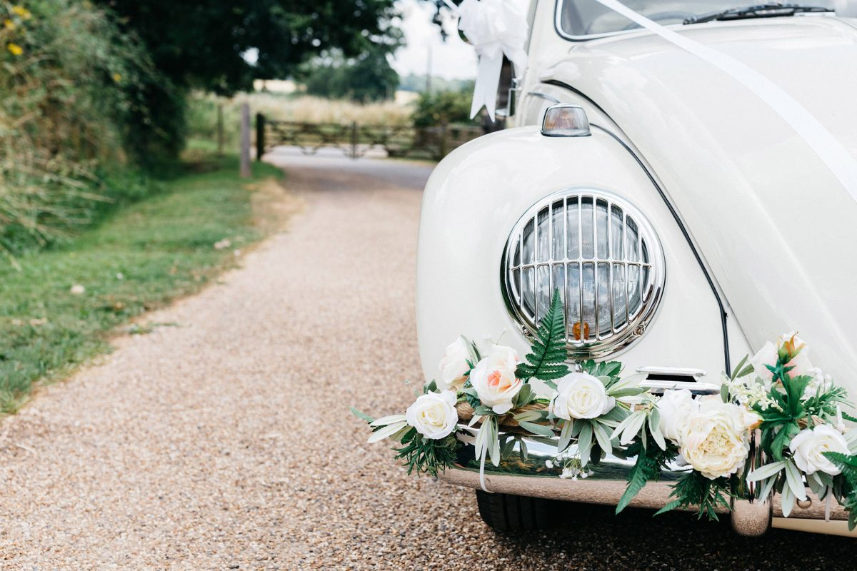 Wedding Grittenham Barn_West Sussex_car