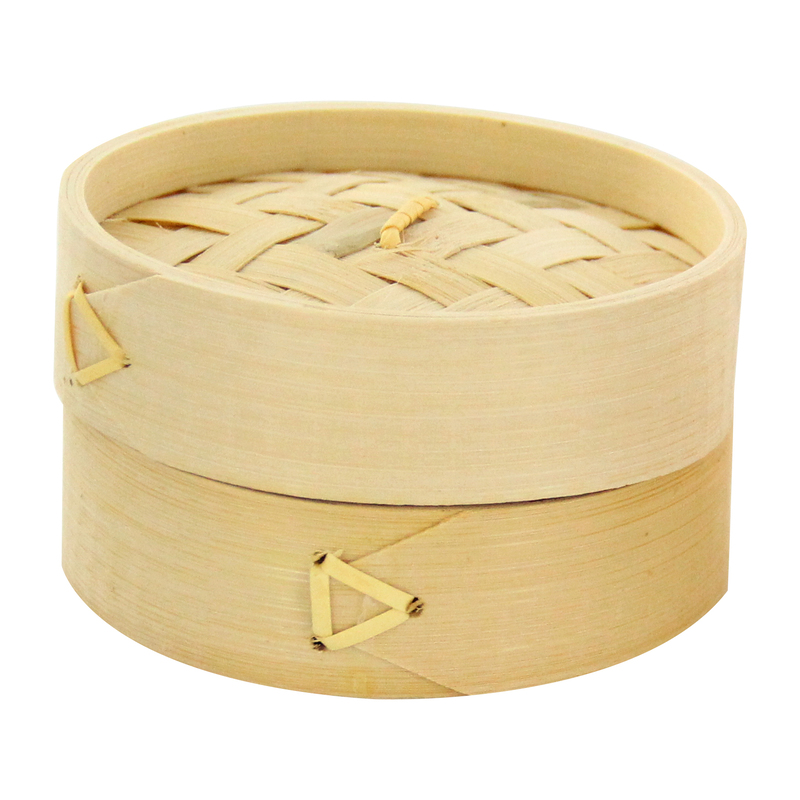 Dim Sum Mini Bamboo Steamer -6oz Dia:4in  H:2.25in