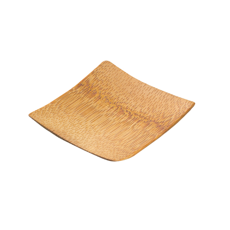 Krabi Bamboo Mini Square Dish -  L:2.35 x W:2.35 x H:.25in