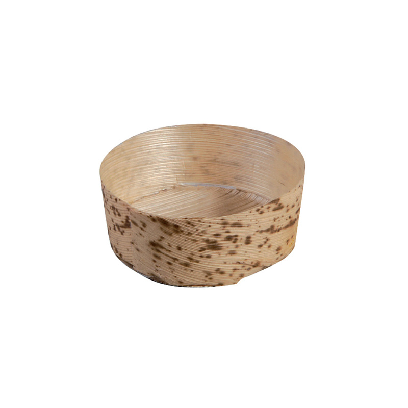 Anno Round Mini Bamboo Leaf Basket -1.5oz Dia:2.2in H:1in