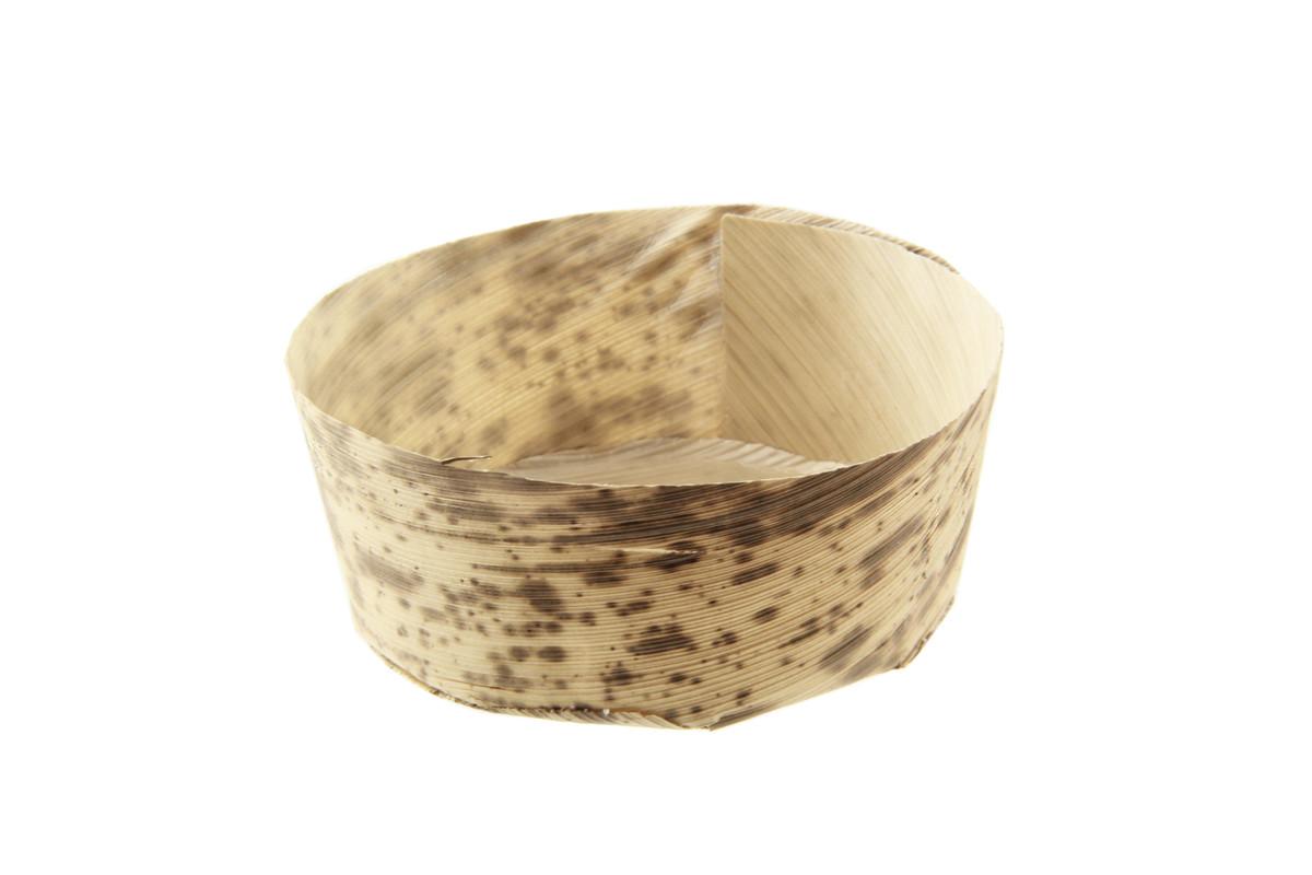 Round Mini Bamboo Leaf Basket - 2.8 in.