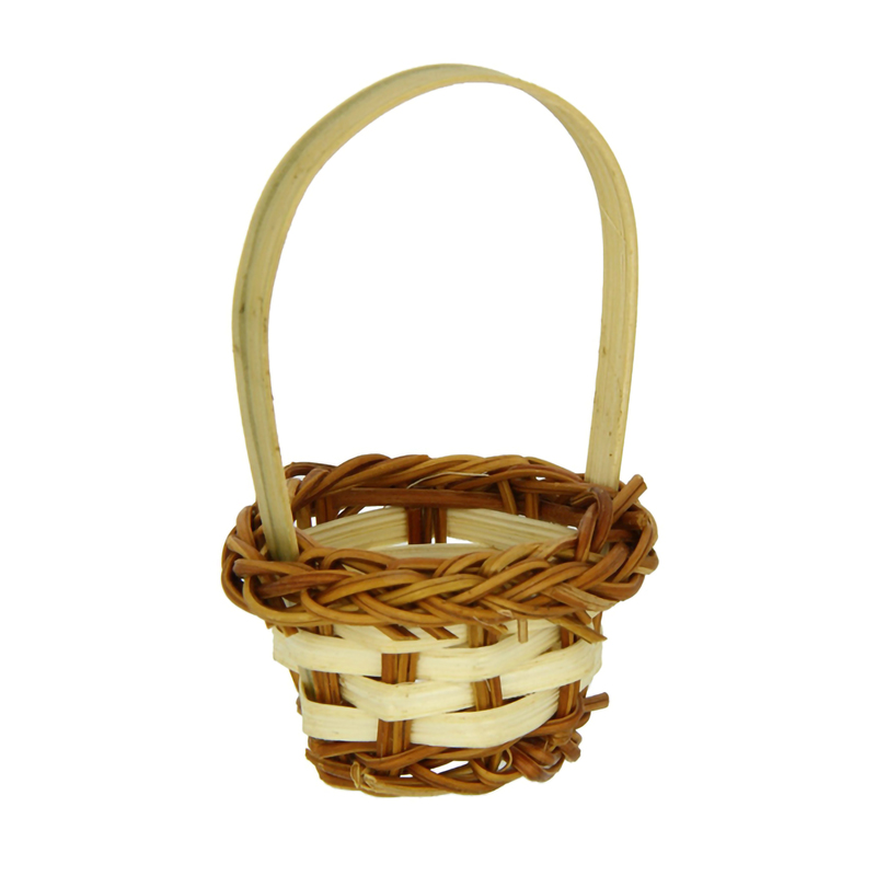 Rai Small Woven Basket For Appetizers - Dia:1.5in H:1in