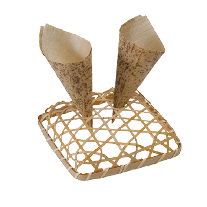 Bamboo Display for Cones - 5.1 in x 5.1 in x 1.1 in