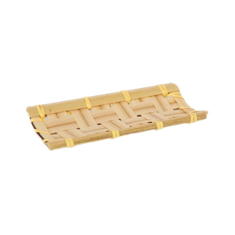 Kobe Rectangular Bamboo Mat - 4.1 x 2 in