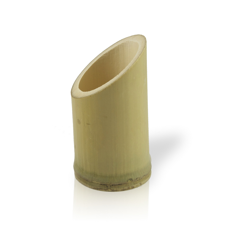 Asahi Oblique Cut Bamboo Tube -2.5oz Dia:2in  H:3.6in