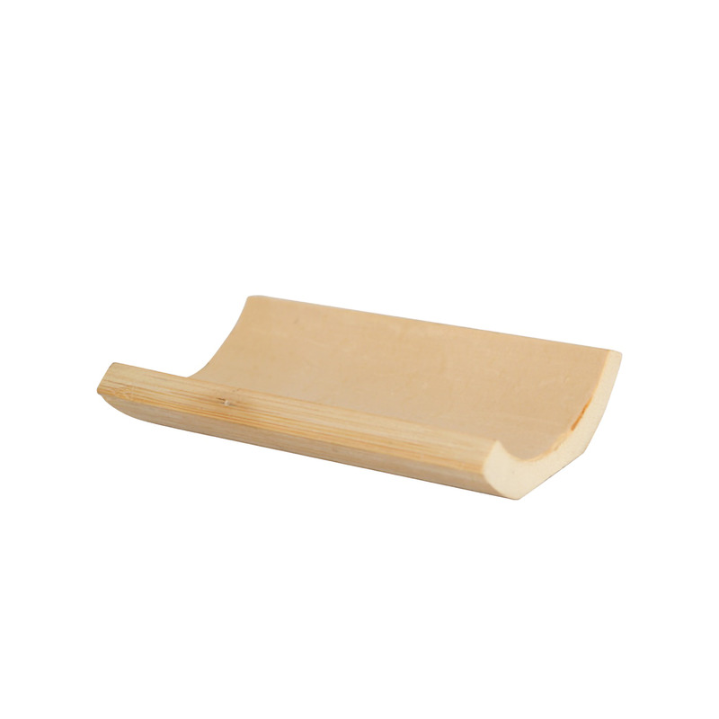 Yaki Smooth Rectangular Bamboo Dish -  L:3.96 x W:2.7 x H:.7in