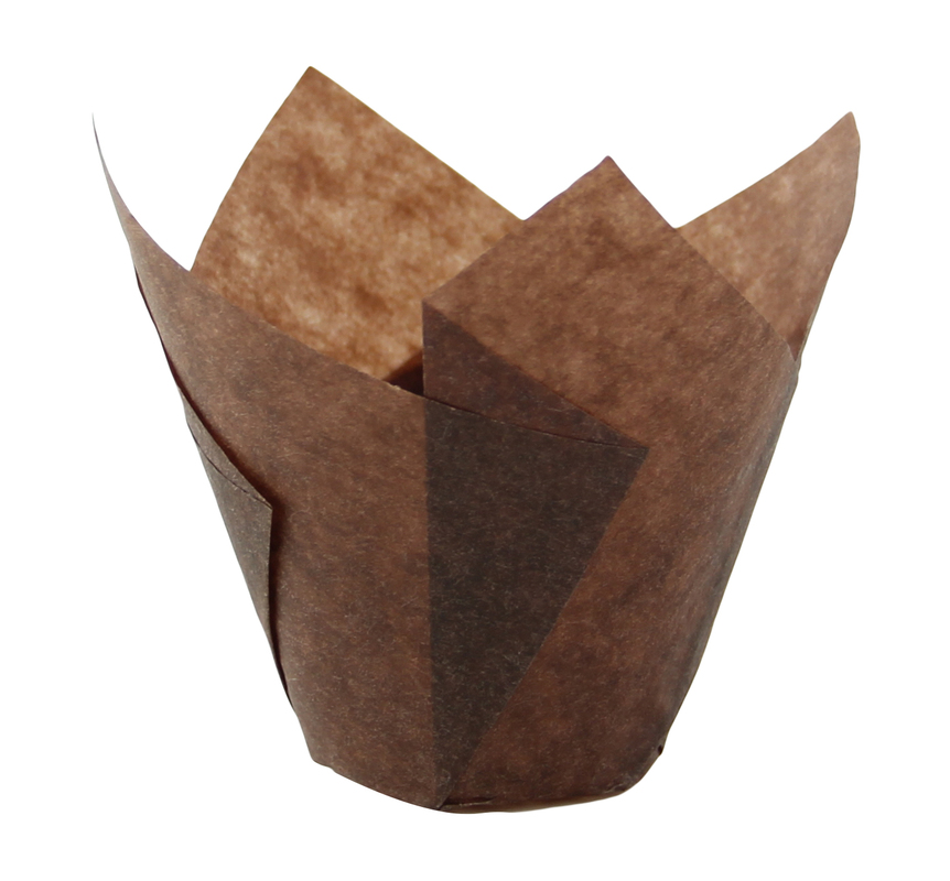 TULIPS - Dark Brown Silicone Baking Cup - 1 oz