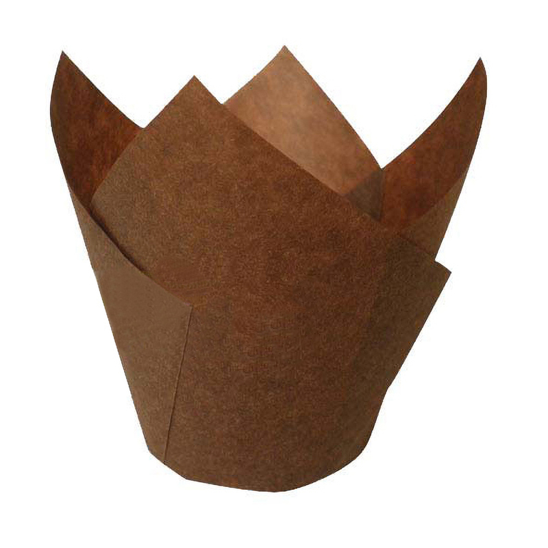 TULIPS - Dark Brown Silicone Baking Cup - 4 oz