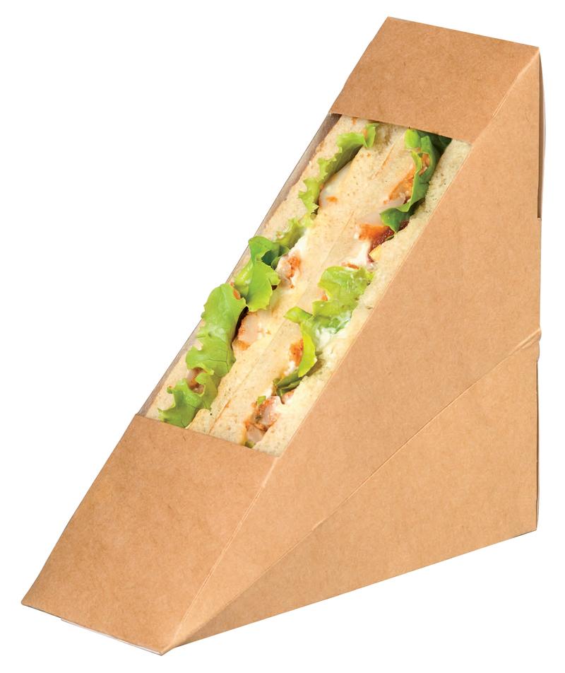 Kraft Sandwich Wedge Box With Window  4.84