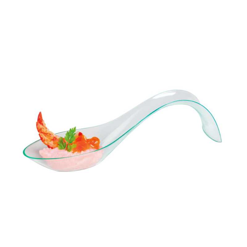 Apolon Clear Green Coktail Spoon -  L:4.8 x W:1.2 x H:1.2in