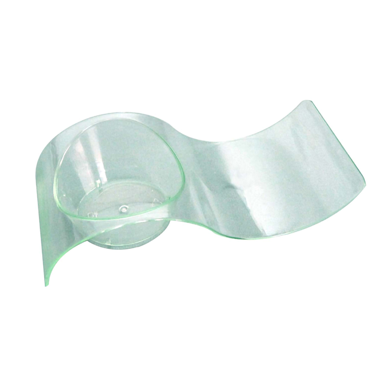 GIZMO - Green Transparent Wave Dish - 3.9 x 1.6 in.