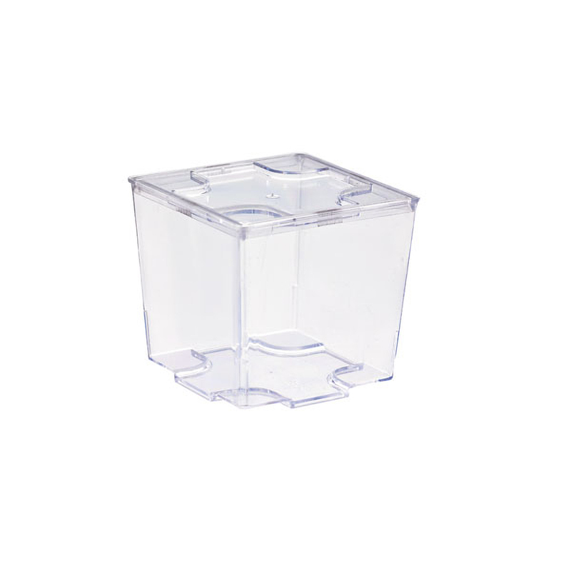 Clear Cubic Mini Dish - 2 in - 2.75oz