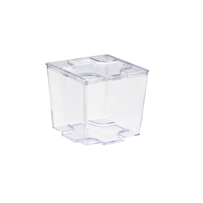 Kara Clear Green Cubic Mini Cup -2oz  L:1.72 x W:1.72 x H:1.65in