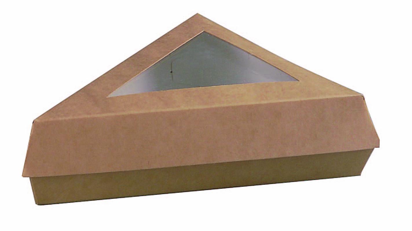 Kraft Slice Box with Window 12 oz 6.6 X 6.6 X 5.1 in