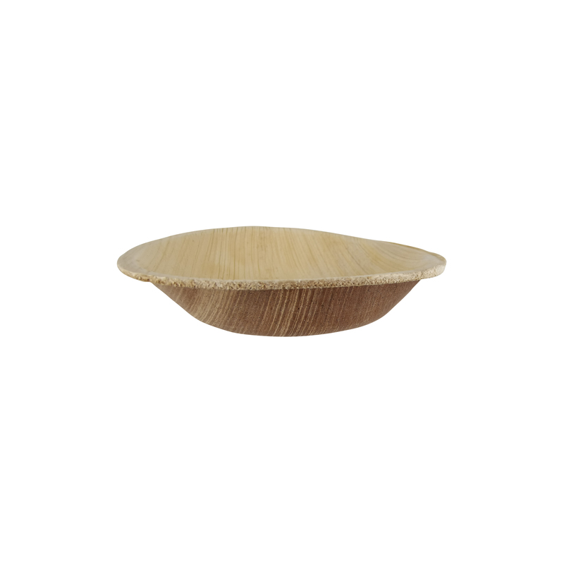 Palmbowl Palm Leaf Round Bowl - Dia: 4 in H: 0.8 in - 100 pcs