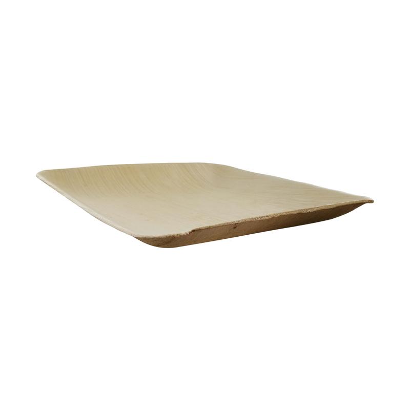 Square Palm Leaf Dinner Plate - L: 6.3 in W: 6.3 in H: 0.8 in - 100 pcs