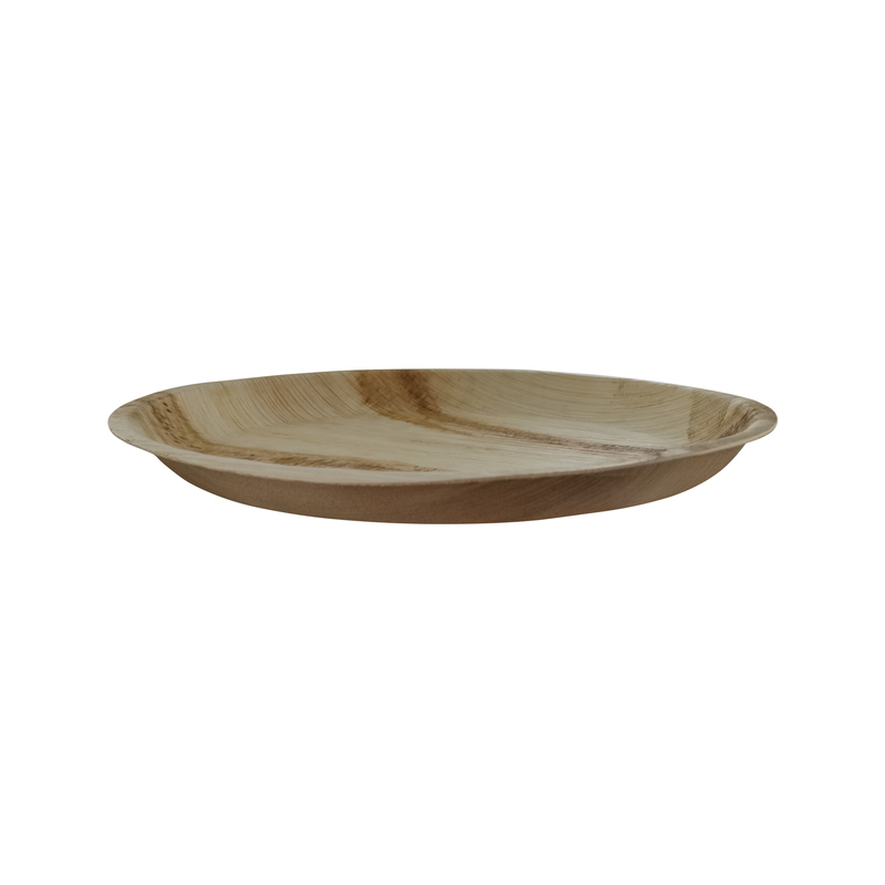 Palm Leaf Round Dinner Plate - Dia: 12 in H: 1 in - 100 pcs