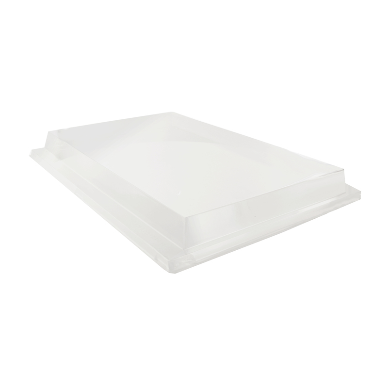 Clear PET Lid For 210APUTRP11 -  L:15.05 x W:11 x H:1.5in