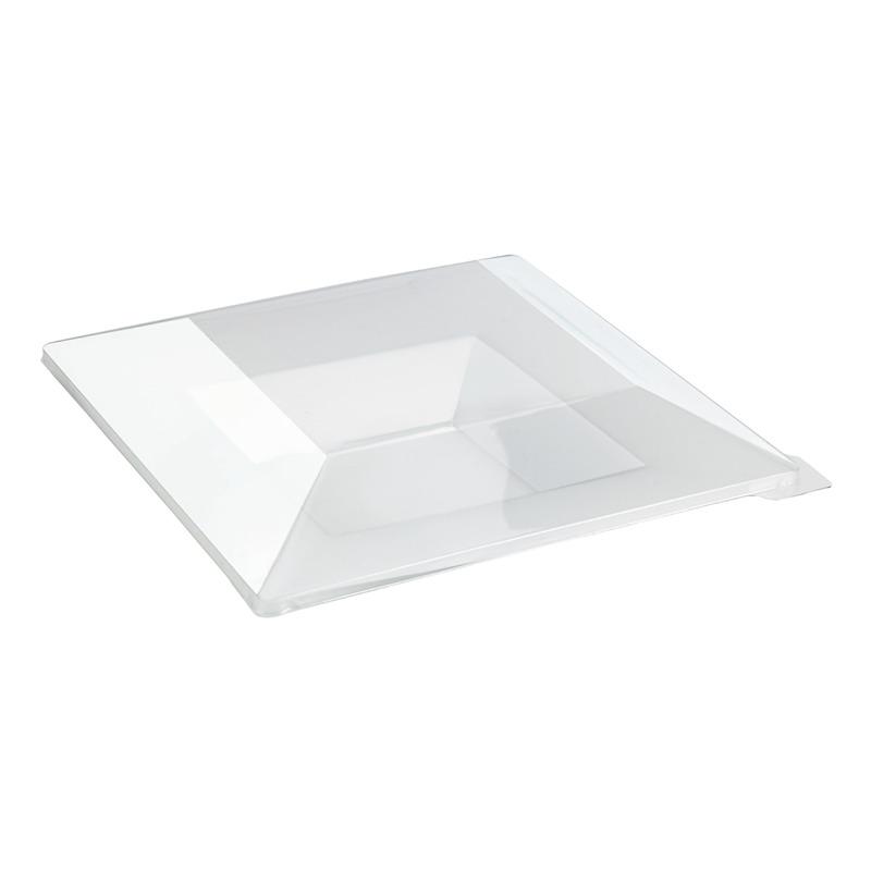Quadra Square Heavyweight Clear Plate 8.46 x 8.46in