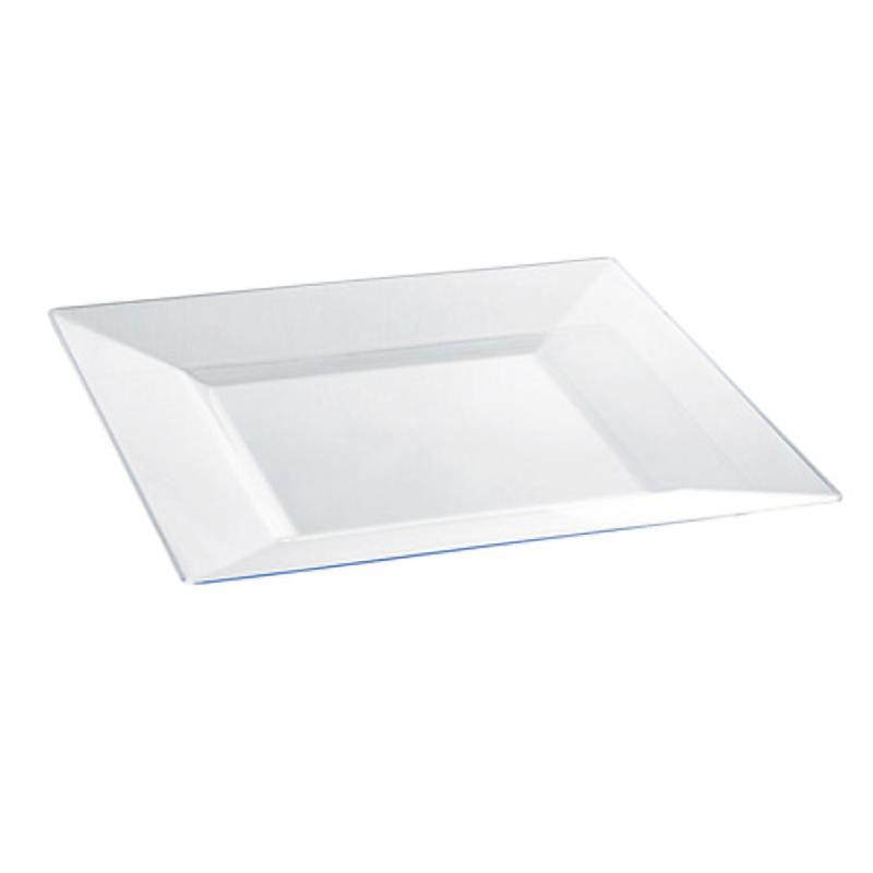 Quadra Square Heavyweight Clear Plate 9.45 x 9.45in