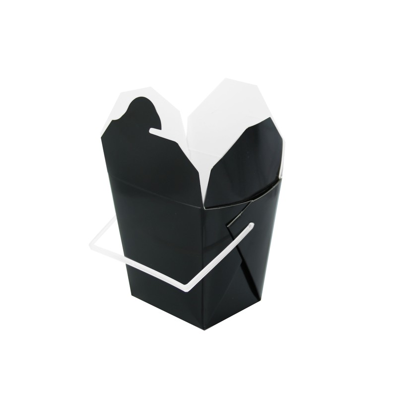 Black Take Out Box with Handle 16 oz 3.75 x 1.75 x 3.5 in