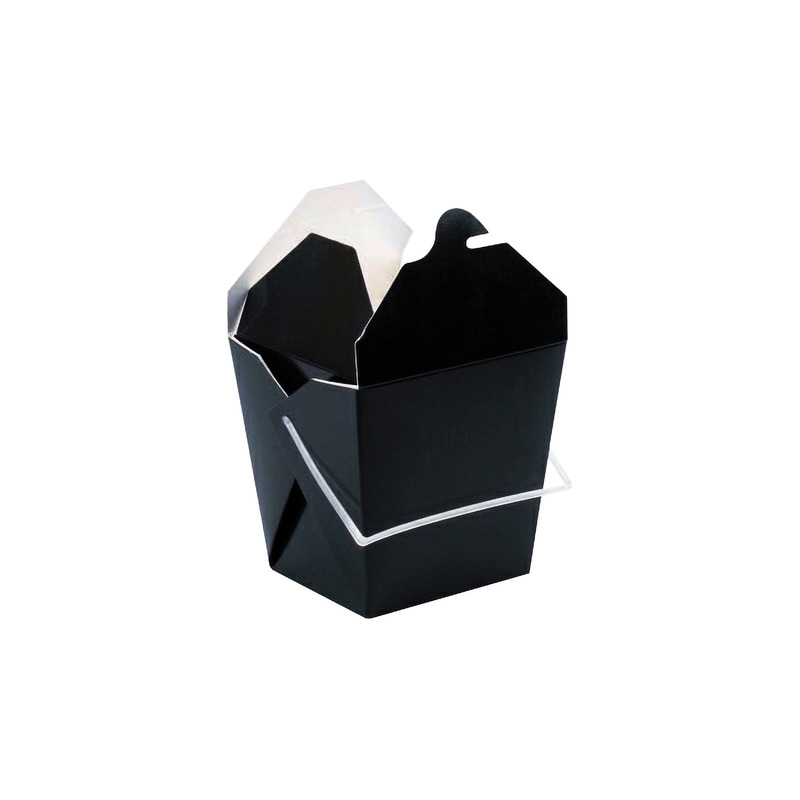 Black Take Out Box with Handle 1.25 x 3.5 x 4 in