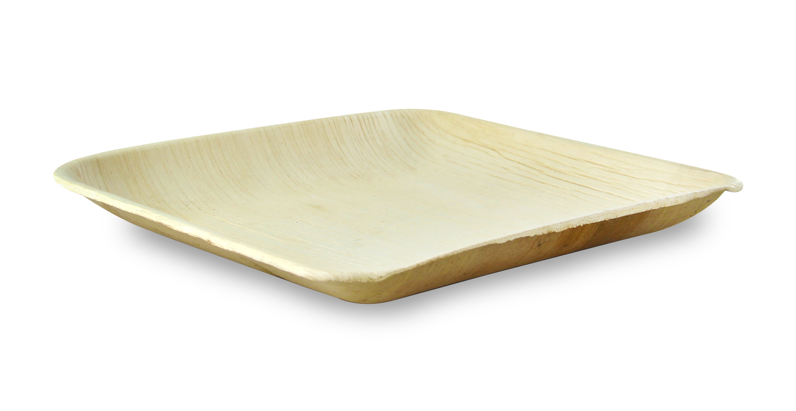 Square Palm Leaf Plate With Rounded Corners - 8 x 8 in.