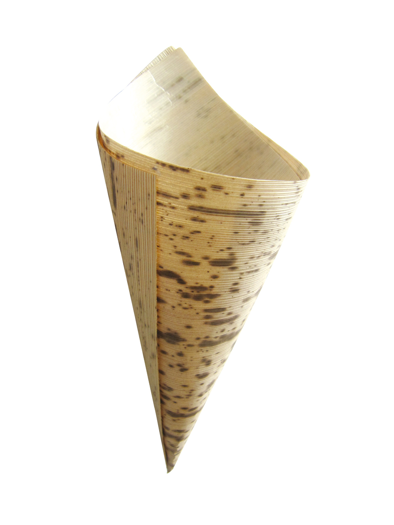 Bamboo Leaf Cone 2 Layers 1.5 oz Ø: 1.9 in H: 5.1 x 3.5 in