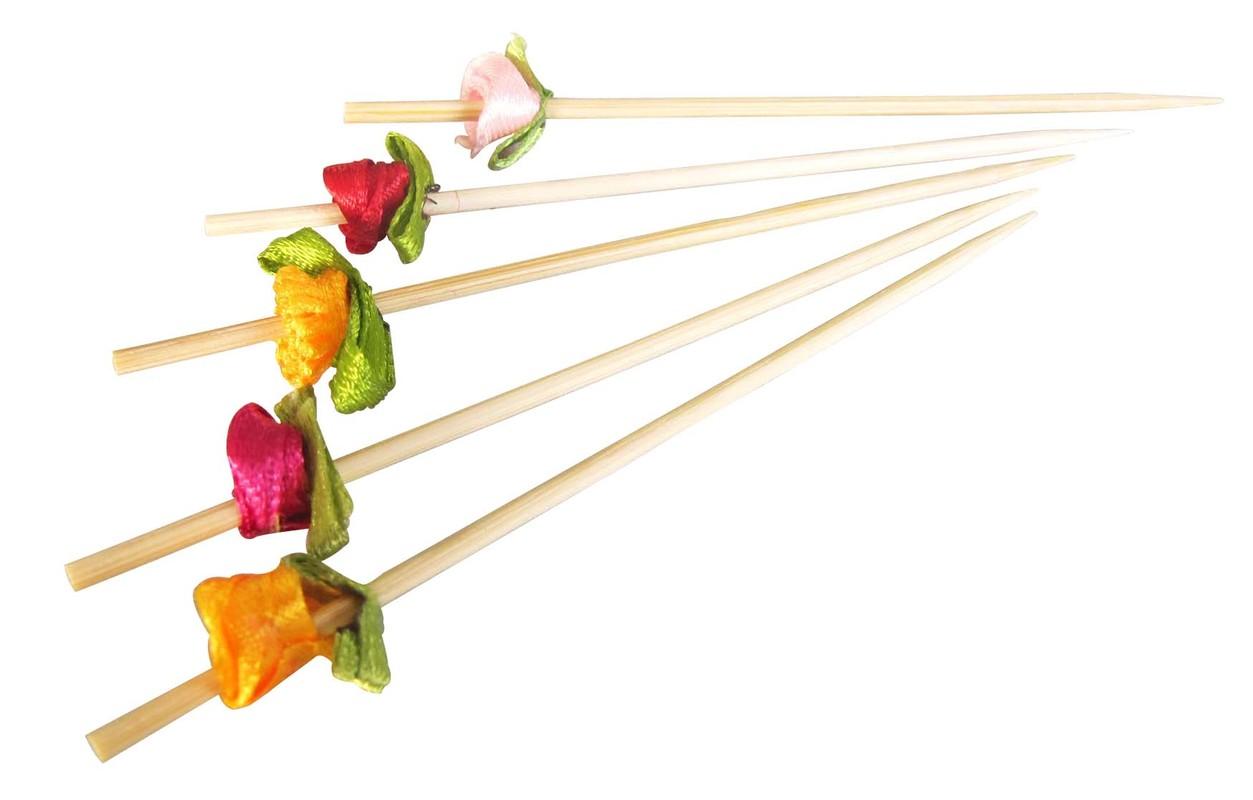 FLOWER Bamboo Skewer - 4.7 in