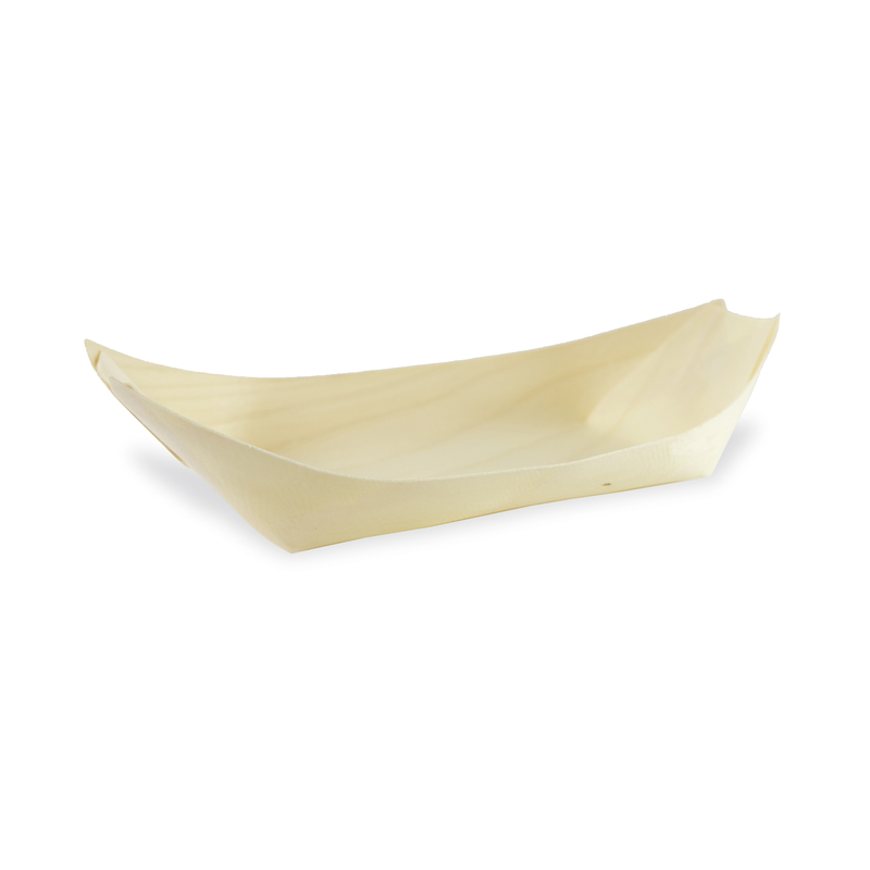 Medium Wooden Boat 3.5 oz - 5 x 3 x 1.3 in