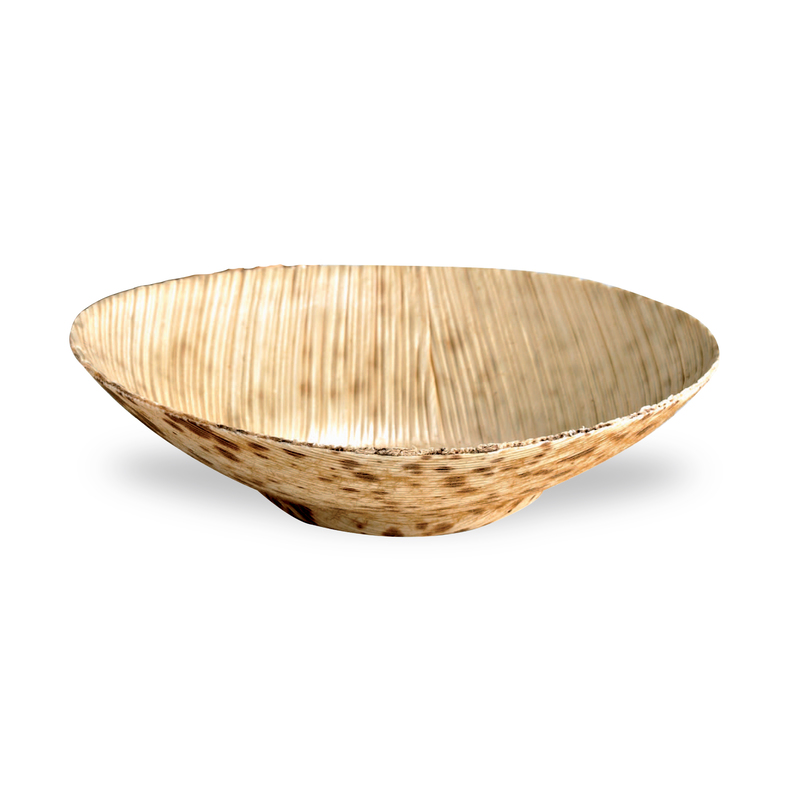 Mini Bamboo Leaf Round Dish -2oz Dia:3.3in H:.75in