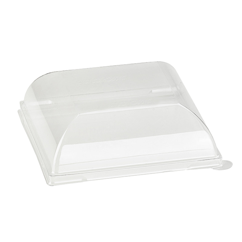 Clear Recyclable Lid For 210BCHIC1111 - 4.40 x 4.40 x 1.41 in