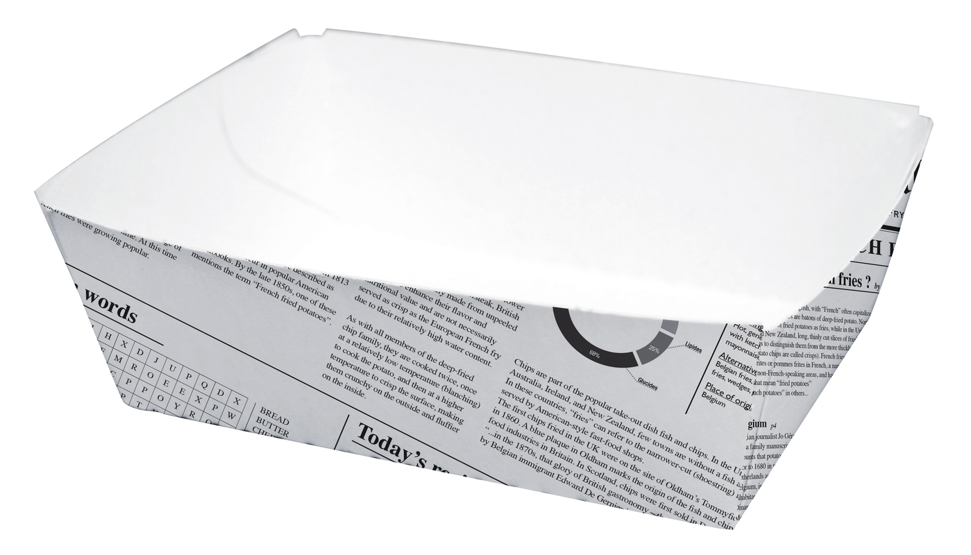 Sturdy Newspaper Printed Basket - 4.3 in.