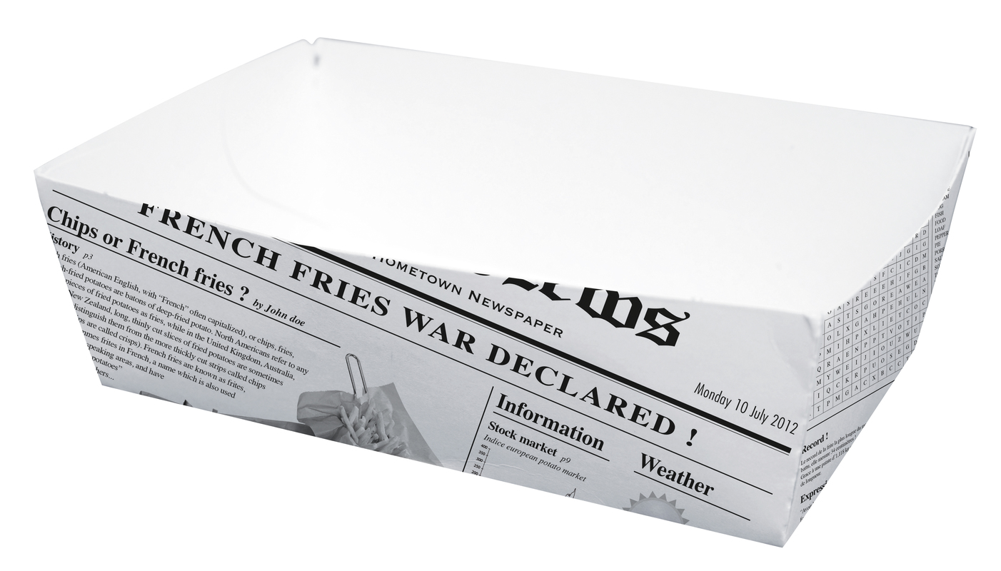 Sturdy Newspaper Printed Basket - 5.9 in.